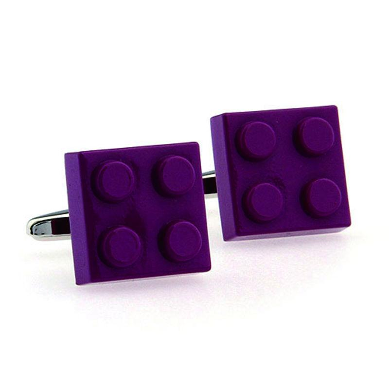 Hot Selling Toy Building block Cufflinks Lepton Jewelry Muti-color Bricks novelty cuff links for mens Best Gift Relojes gemelos