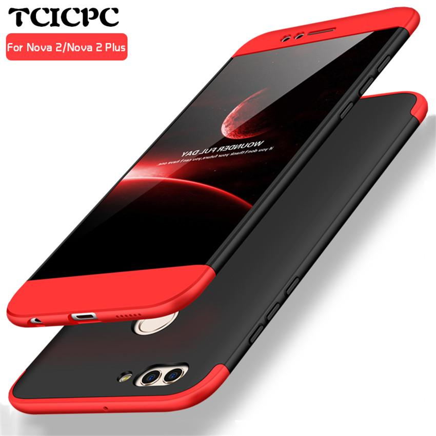 new concept 1adc8 99478 For HUAWEI mate 10 lite Case for Huawei Honor 9i Case 360 Degree Full  Protection Hard PC huawei nova 2i case 3 in 1 Back Cover