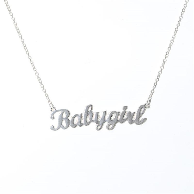 94704ed80da25 Personalized Cute Daddy Girl Babygirl Necklace Custom Pendants For Children  s birthday Gift Honey Jewelry