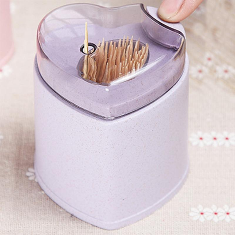 Wheat Straw Automatic Toothpick Holder Pocket Container European Style Toothpick Storage Box Dispenser Home Decor