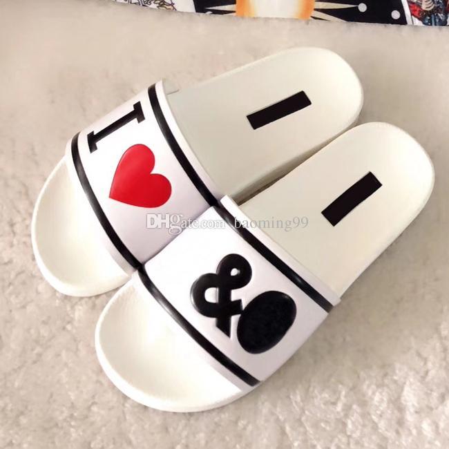 Fashion Slide sandales causal pantoufles huaraches d'été antidérapantes tongs pantoufles femmes classiques pantoufles lettre blanc noir lettre femmes