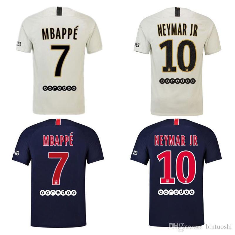 Thai New 2018 2019 NEYMAR JR Soccer Jersey PSG  7 MBAPPE Football ... 2a7838996