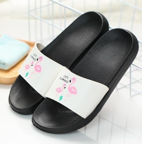 95ef716bba9b63 Fashion 2018 Summer Women Slides Flamingo Cartoon Lovely Beach Slippers  Platform Sandals Women Shoes Flip Flops Zapatillas Mujer Glass Slipper Blue  Shoes ...