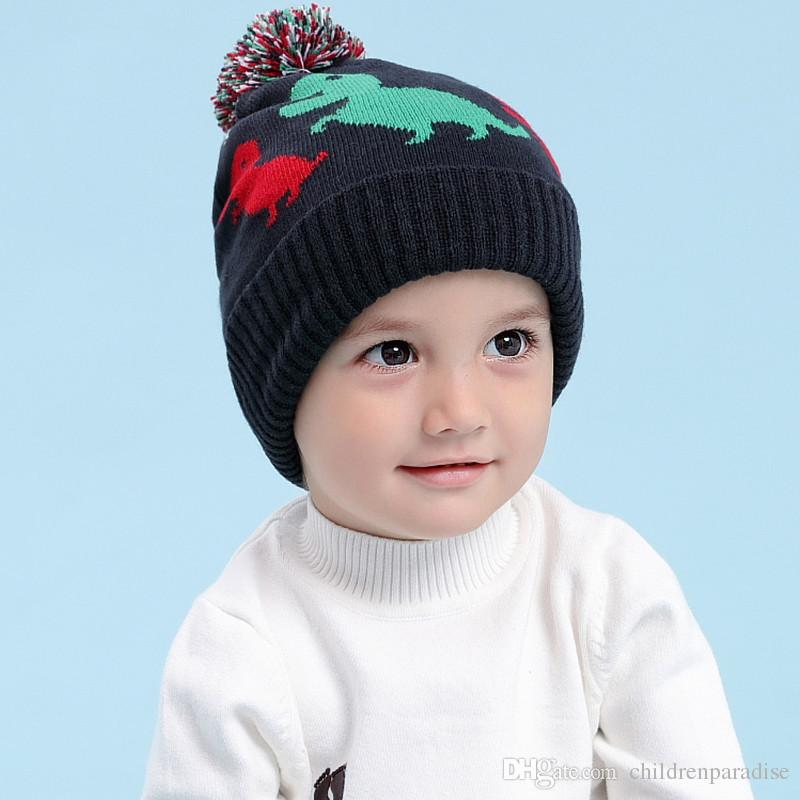 Baby   Kids Boys Fall Winter Print Navy Blue Knitted Beanie Hat Children  Fashion Casual Cute Hats Caps Online with  17.15 Piece on  Childrenparadise s Store ... e7e9097cb9b