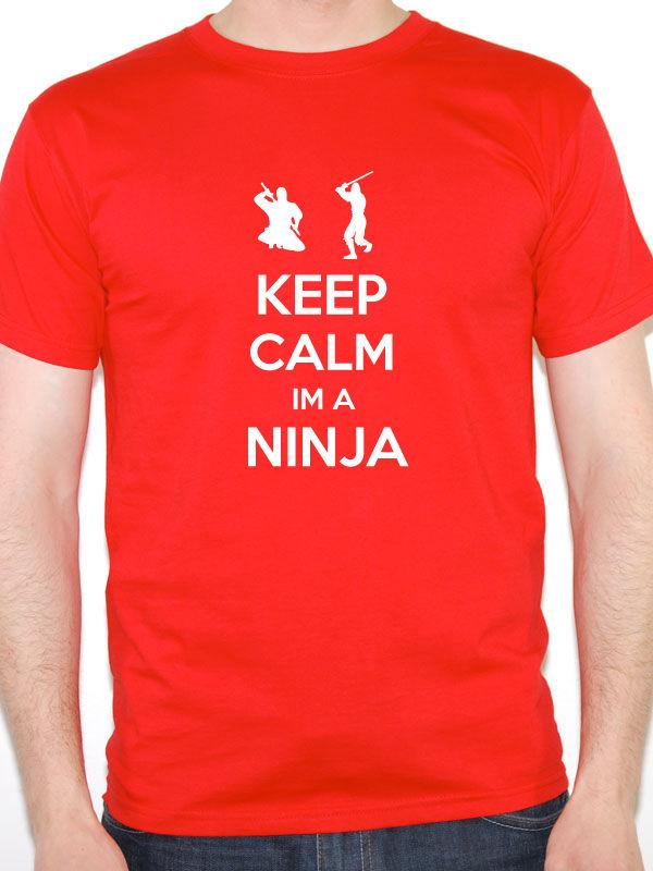 cd585a44649 Details Zu Funny Ninja T Shirt KEEP CALM IM A NINJA Martial Arts Karate  Gift Funny Unisex Casual Tee Gift Great Tee Shirts Cool Tee Shirt From  Micky tees