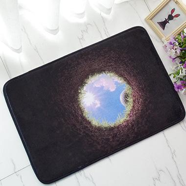 Wholesale- New 2016 Fashion 400X600mm Funny Doormat 3D flower print Floor Mat for Living Room Door Mats Bathroom Carpet
