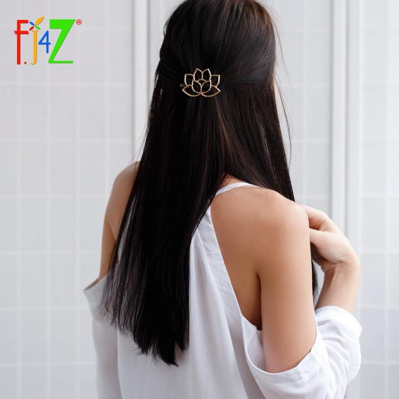 Hairpins Fashion Beautiful Hollow Lotus Hair Clips for Women Jewelry Accessories pinzas de pelo