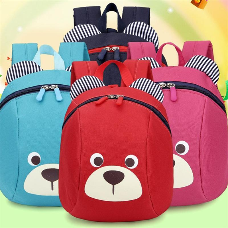 kids safety canvas harness toddler children strap bag baby aged 1-3 years old cartoon bear backpack anti lost bag for girls boy