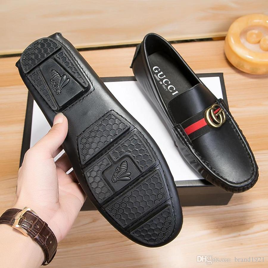 cd632ae2f5f Luxury Men Flat Shoes Quality Split Leather Men Loafers Solid Black  Breathable Slip On Outdoor Men Driving Shoes Imported Calfskin Material  Skechers Shoes ...