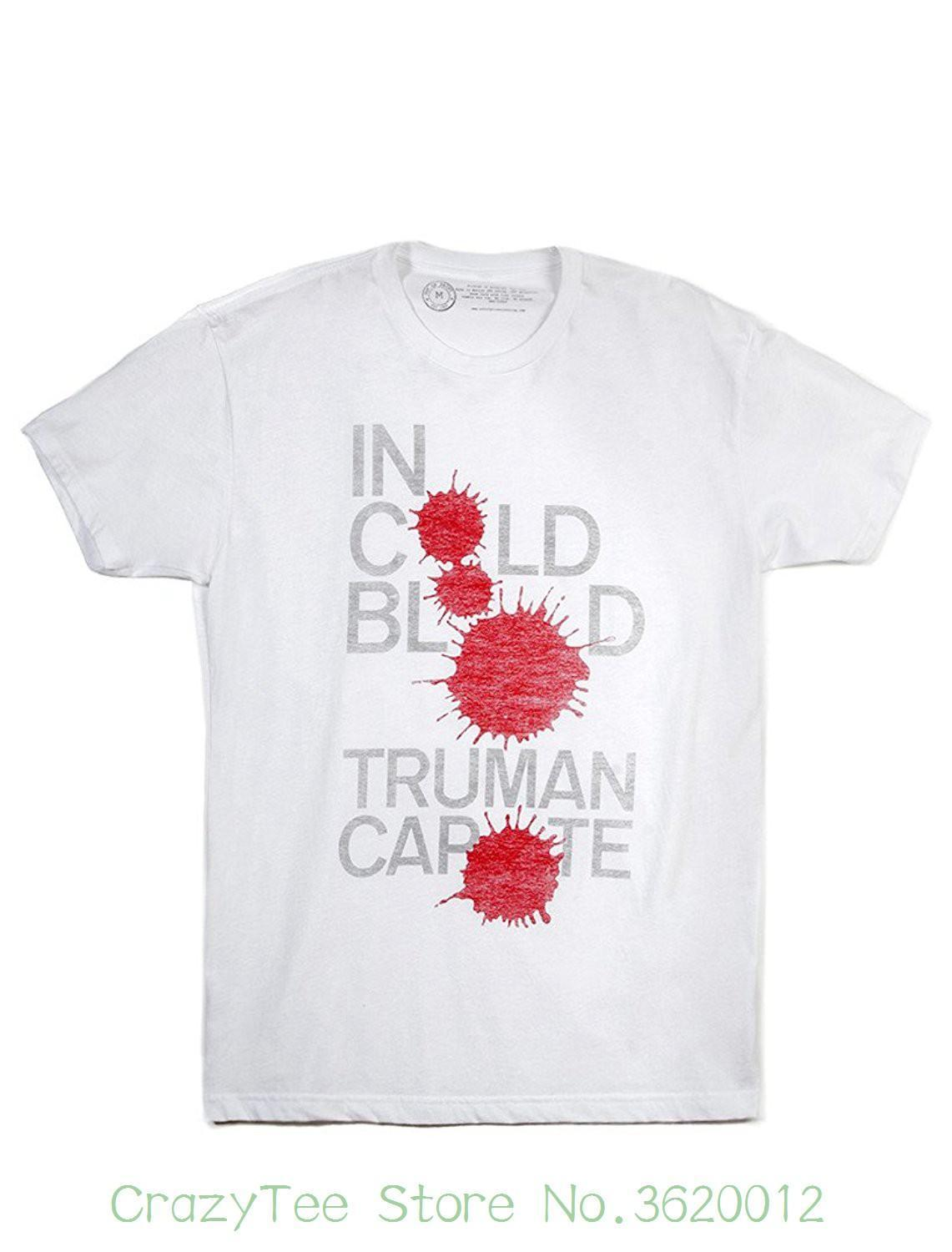100% Cotton T Shirts Brand Clothing Tops Tees Men's In Cold Blood T-shirt