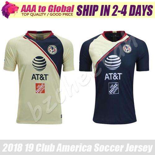 Club America Jersey 2019 México Camiseta De Futbol Club De Futbol America  Camiseta De Fútbol De Local Visitante Camisetas De Fútbol Por Bzcheetah 46a62fe395a5a