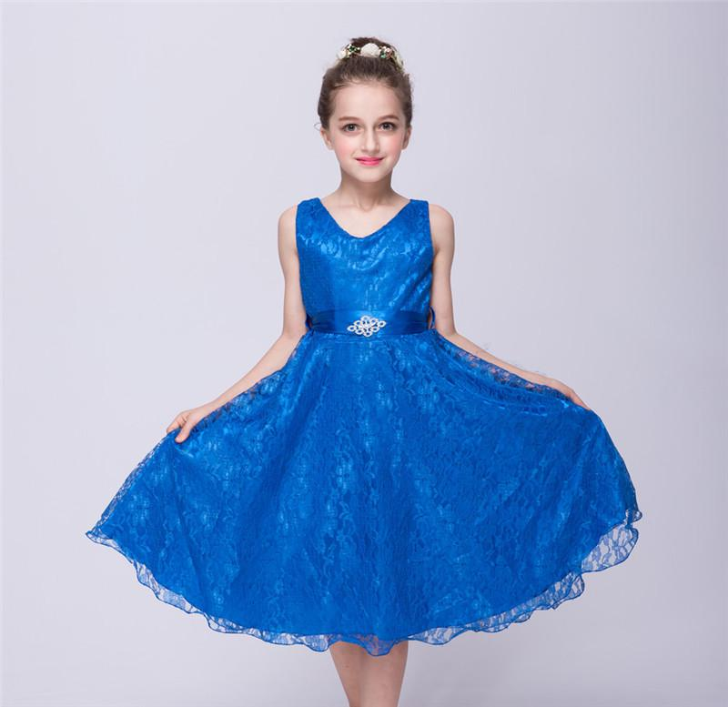 New Style Girl Dress Cute Sequin Sleeveless Vest Princess Lace Dress ... 8ea8a564d7dd