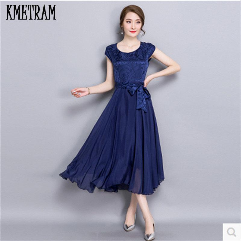 Summer Dress Female 2018 Elegant Chiffon Silk Party Dresses For Women Red  Robe Femme Plus Size Womens Vestidos Mujer YJZ117 D1891306 Online Dresses  Wrap ... 8c86e4a3134e