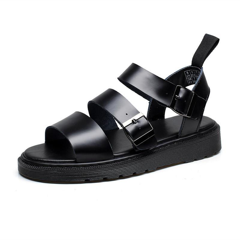 ef6b2665b83 Summer Martin Sandals Woman Rome Hasp Toe Beach Shoes Joker Genuine ...