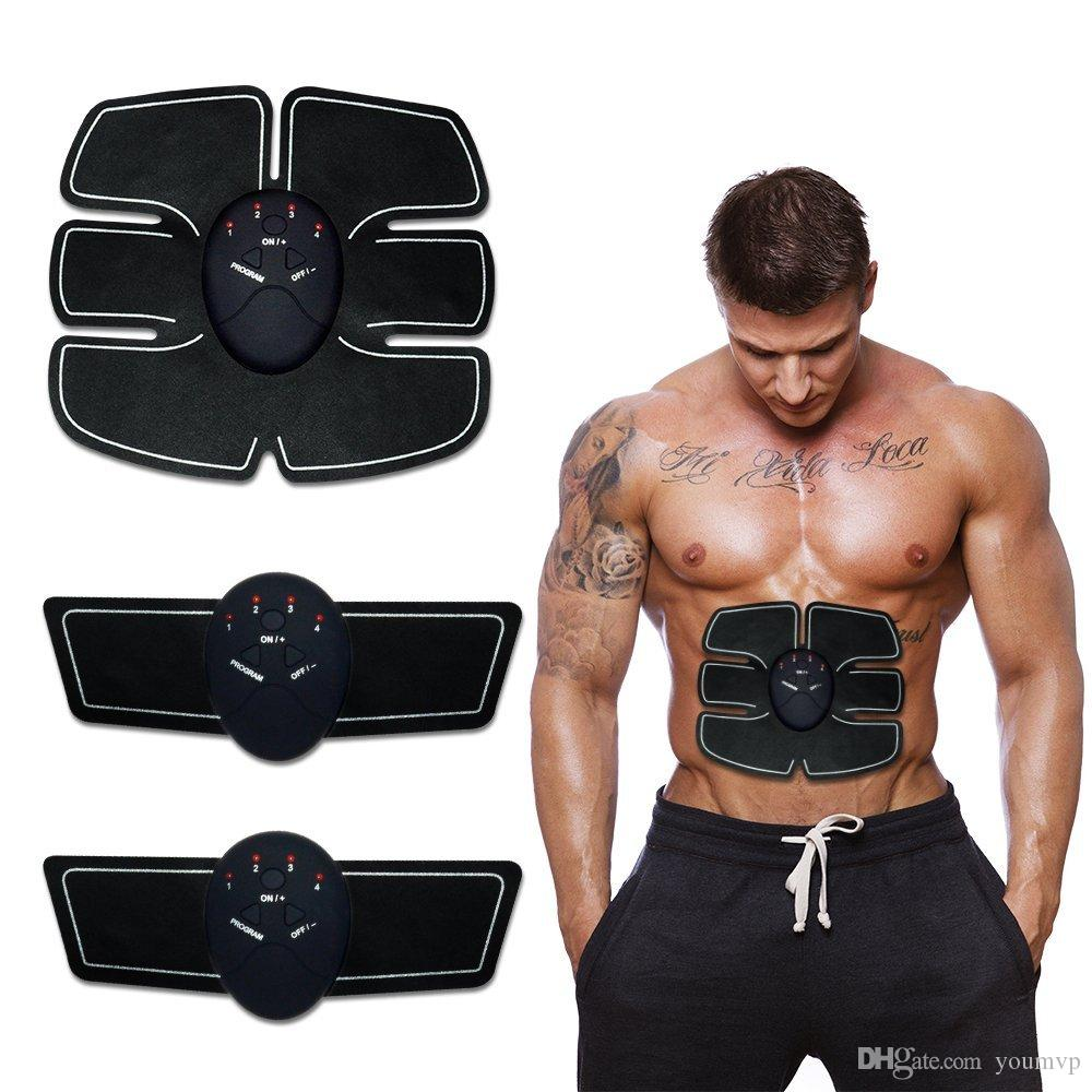 EMS Wireless Muscle Stimulator Smart Fitness Abdominal Training Device Electric Weight Loss Stickers Body Slimming Belt Unisex J1755