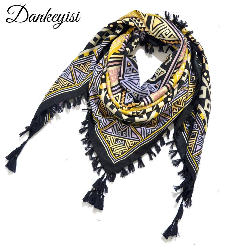 ee6b6b8a05b20 DANKEYISI Large Square Hijab Scarf Women Scarf Floral Blanket Wraps Lady Scarves  Shawls Ethnic Scarfs Foulard Headband 115 115 Scarves Cheap Scarves ...