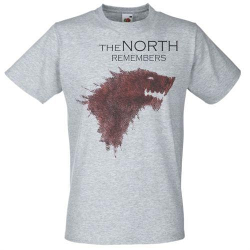 339a419bbebdf Mens Grey   The North Remembers  House Stark T Shirt Game Of Thrones Fan  Art All Shirts Ridiculous T Shirts From Cyclingteeshirt