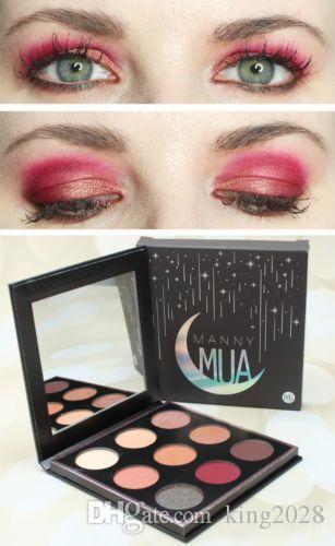 في المخزون والشحن مجانا! Munny MUA x Makeup Geek Eyeshadow Palette يدوم طويلاً غير لامع.