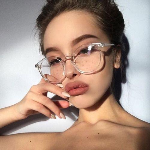 a8ac07df39 Compre Moda Gafas Redondas Marco Transparente Mujeres Gafas De Miopía Gafas  Transparentes Hombres Gafas De Vista Marco Empollón Marcos Ópticos Lente ...