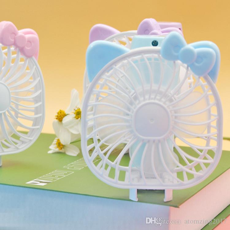 Mini Folding Portable Fan Cartoon Cat USB Rechargeable Foldable Handheld Summer Air Cooler Fan Portable Handheld fan by dhl