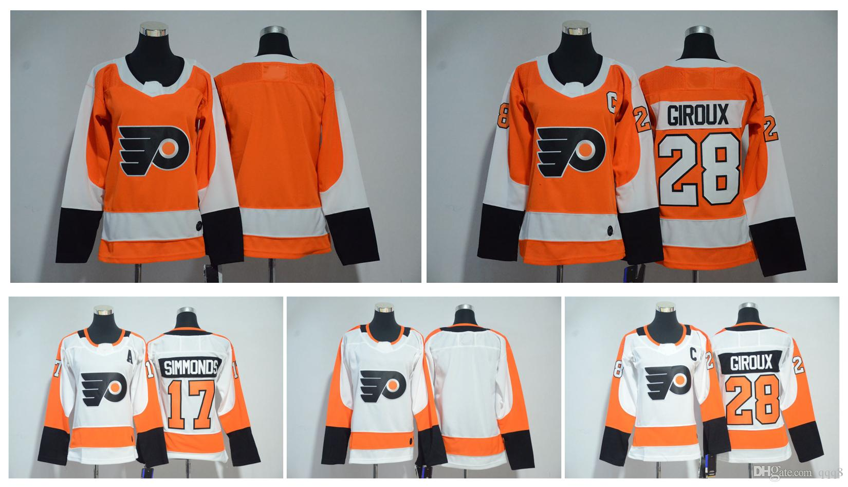 e25aa35af 2019 2018 AD Women Philadelphia Flyers Jersey 17 Wayne Simmonds 28 Claude  Giroux Stitched Ladies Hockey Jerseys From Qqq8, $25.08 | DHgate.Com