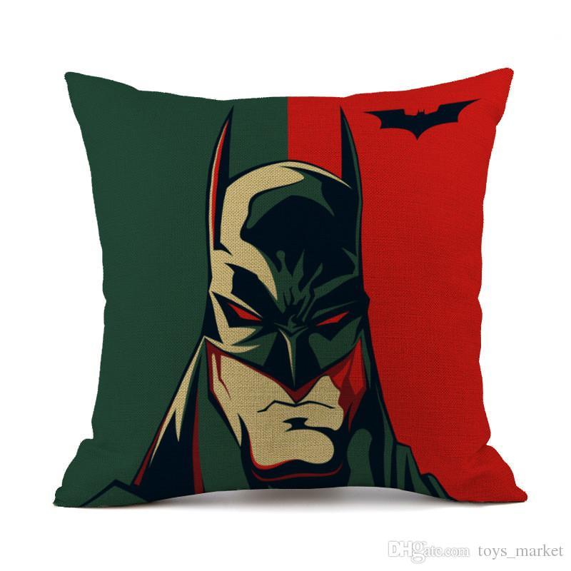 Super-héros Iron Man Superman Capitaine Amérique Batman Taies d'oreiller Housse de coussin cas Throw Taie D'oreiller Lin Coton Taie D'oreiller Cadeau
