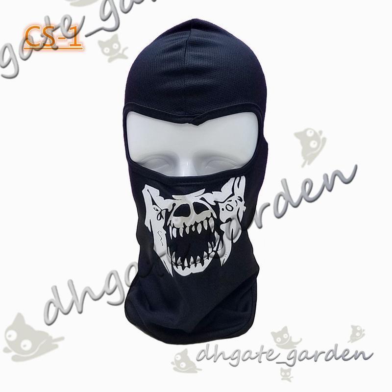 NEW CS Cosplay Ghost Skull Black Full Face Mask Motorcycle Biker Balaclava Breathing Dustproof Windproof mask Skiing sport masks
