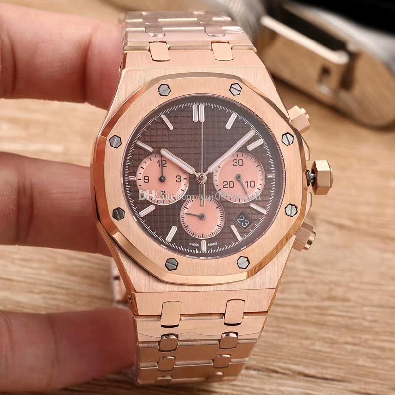 34df17cd6f4 Compre Relógio De Homem Casual Elegante. Com Um Movimento De Quartzo  Importado. 904L Aço Inoxidável Rosa Caixa Escovada Ouro   Cinta.
