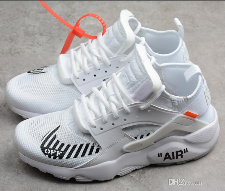 Compre WHIET OFF AIR Zapatos Negro Huarache Ultra Run Triples Blanco Negro Zapatos 33c1ea