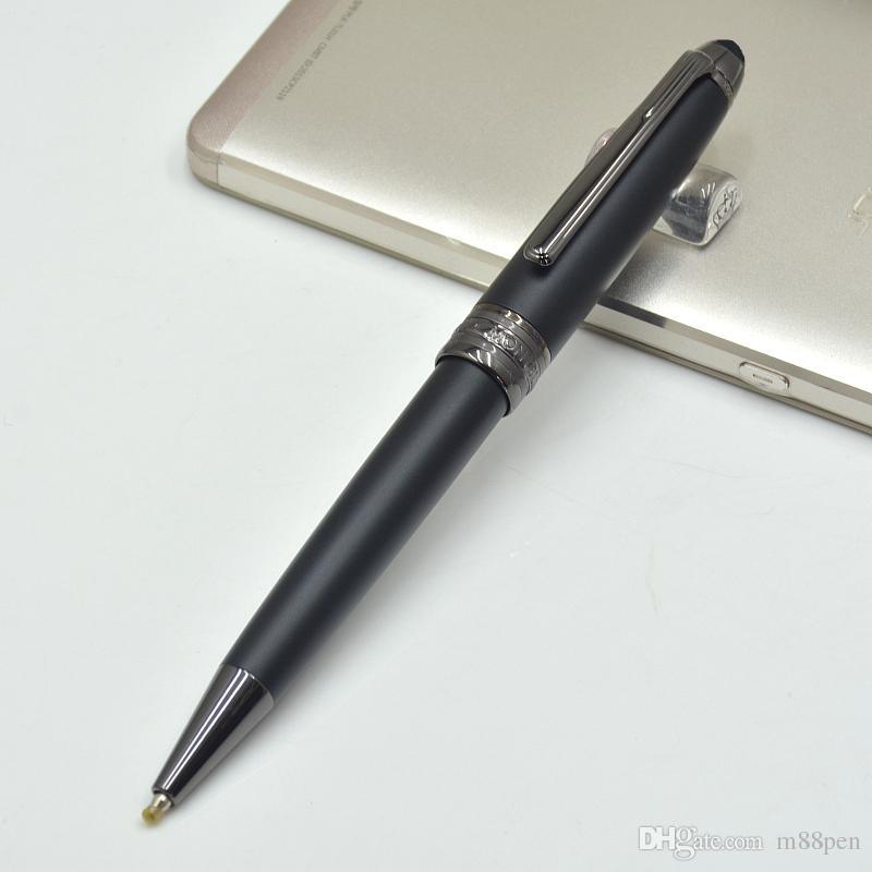 جودة عالية الحبر ترويج 163 أسود غير لامع معدن قلم / الأسطوانة الكرة من ركلة جزاء غرامة مكتب القرطاسية الأزياء الأقلام هدية