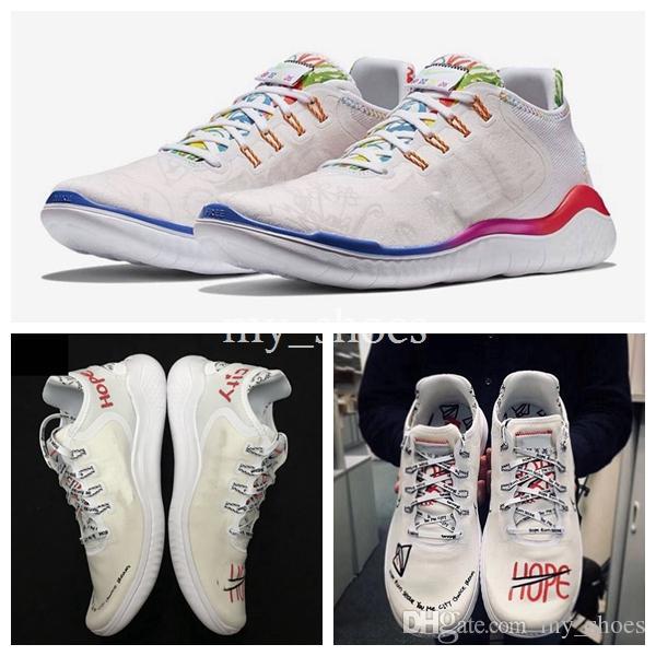 3969ef5f51df2 2019 New Flabjacks X Novo Free Run 2018 RN T SHIRT Ton Mak AH3966 106  Designer White City Graffiti Running Shoes Sport Mens Womens Sneakers 36 44  From ...