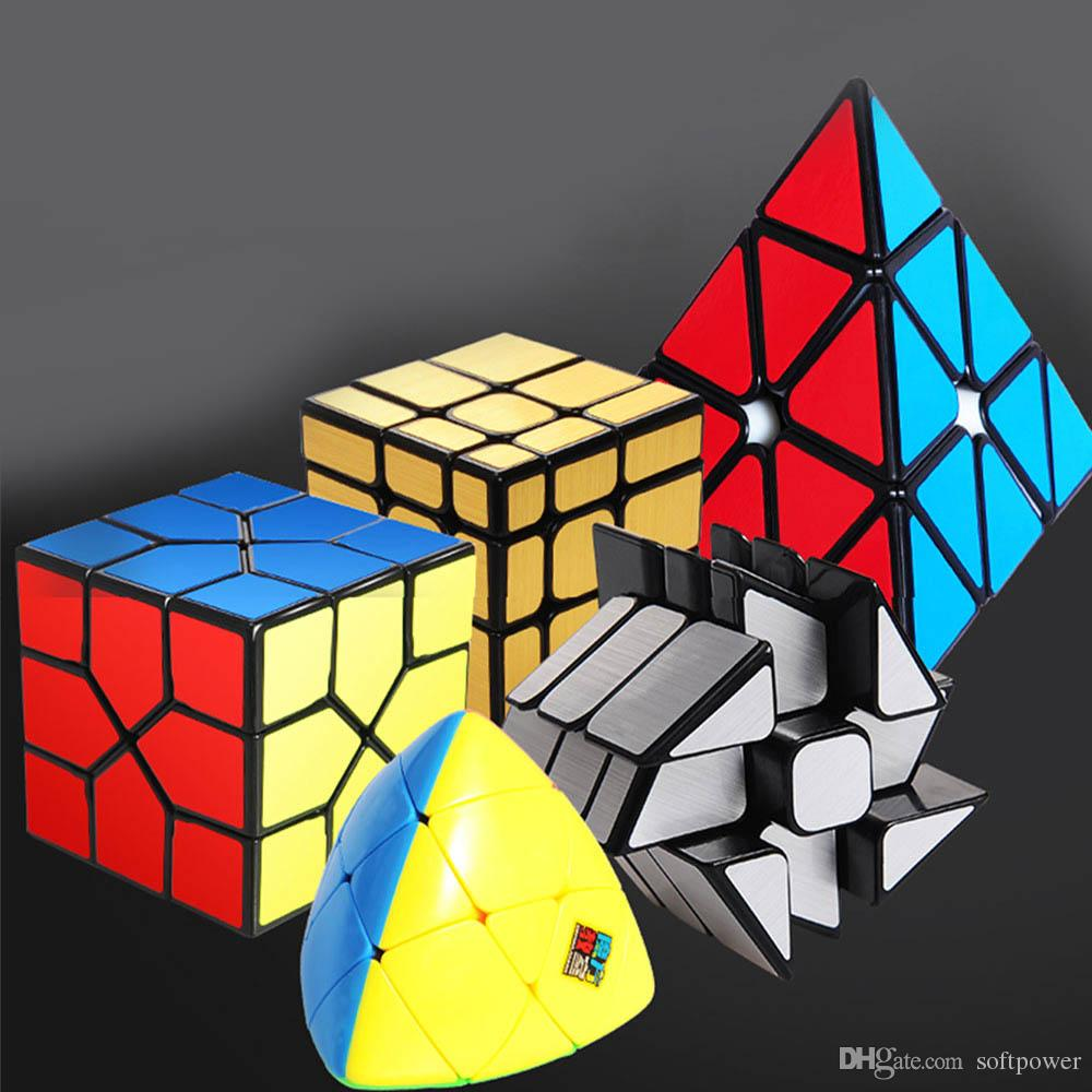 6 Suit Fast Professional Twist Cube Speed Cube Children s Educational Toys  Magic Puzzle cube Decompression toys Rubik Game Educational Game