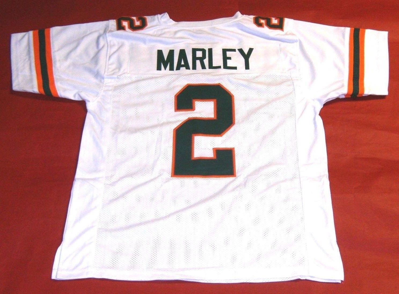 sale retailer dbd55 98d37 Cheap retro 2 ROHAN MARLEY UNIVERSITY OF HURRICANES white JERSEY Stitching  Football jerseys Fat man Big And Tall 4XL 5XL 6XL For sale