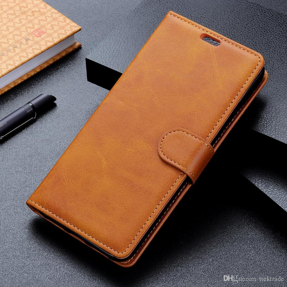 the best attitude 1ed24 2d918 Luxury Flip Wallet PU Leather Phone Case For Alcatel 7 5V 1 1C 5009A 3  5052Y 5 5086A 5086Y A7 U5 Plus Alcatel 1X 3V 3X Card Slots With Stand