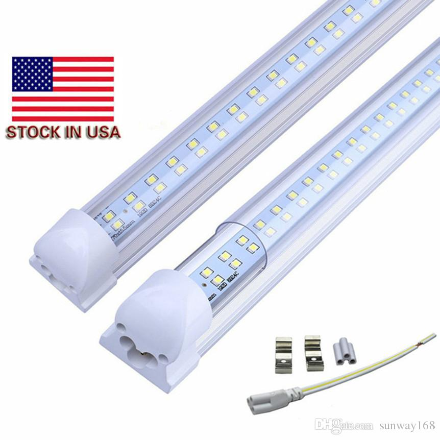8.2usd / pcs 28W T8 4ft led tubo doble fila integrada luces SMD2835 1.2m AC85-265V 36w 3600lm alta calidad led lámparas de tubo