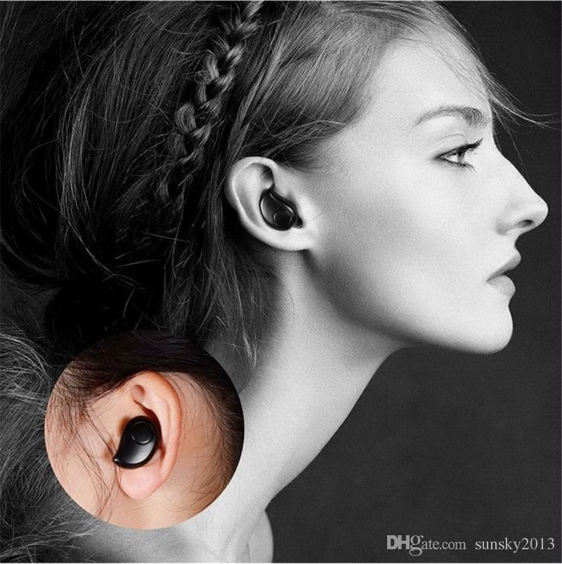 In-Ear Invisible Bluetooth Kopfhörer S530 Plus Wireless Mini Headset mit Mikrofon für iPhone X Samsung Sport Stereo Kopfhörer Ohrhörer