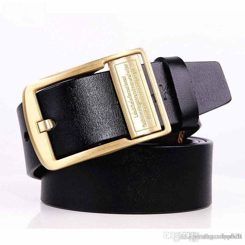 e0178ba126f5 Men S Belt Cowhide Genuine Leather Vintage Belts For Men Luxury Brand  Designer Men S Pin Buckle Belt Men High Quality BIG SIZE 105 Garter Belt  Sets ...