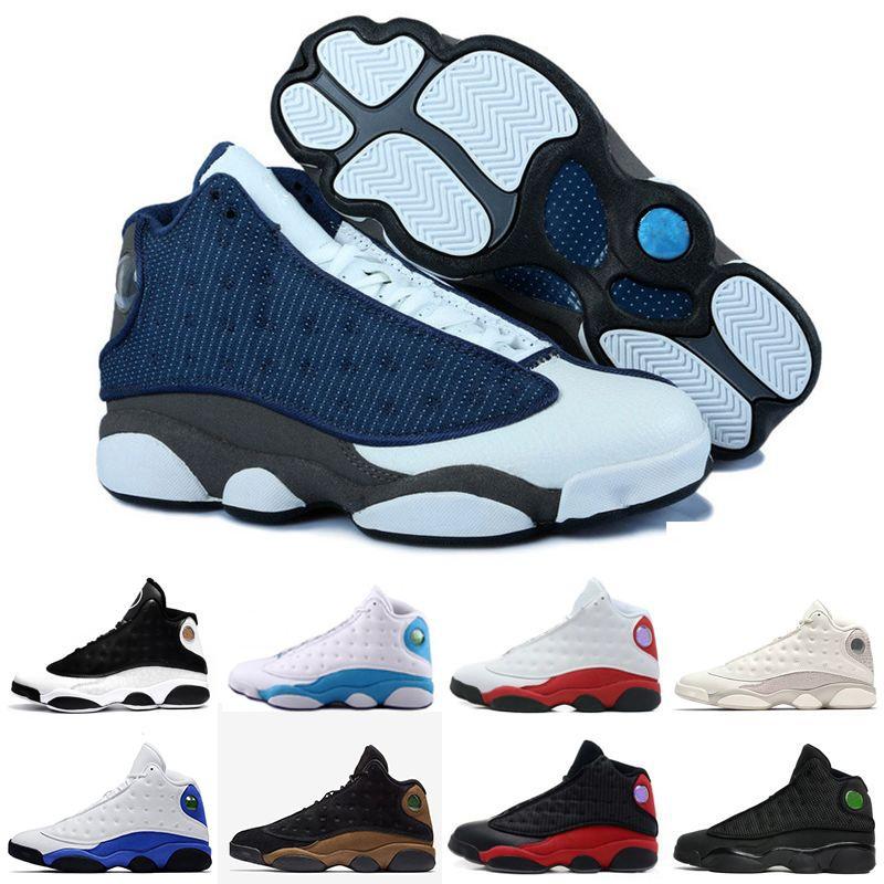 online store 327e7 66afd Großhandel Retro Air Jordan 13 AJ13 Nike Beste Qualität Basketball Schuhe  Sneaker Für Männer 13s Schwarz Phantom Gezüchtet Er Bekam Spiel Mode Herren  Sport ...