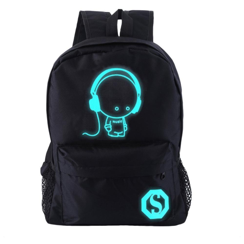 9e3b8585948d Luminous Backpacks Waterproof Women Cartoon Daily Backpacks College Student  Bookbags Reflective Bagpack For Girls School Bags Wheeled Backpacks Leather  ...