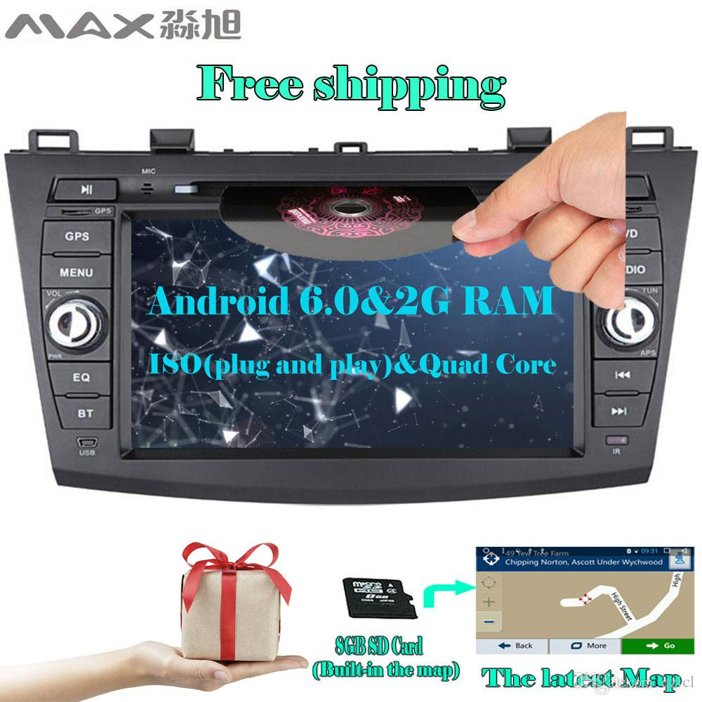 For Mazda 3(3) 2010 2011 2012 2013 Car DVD GPS Navigation System with CD  Player Bluetooth call/music swc free map