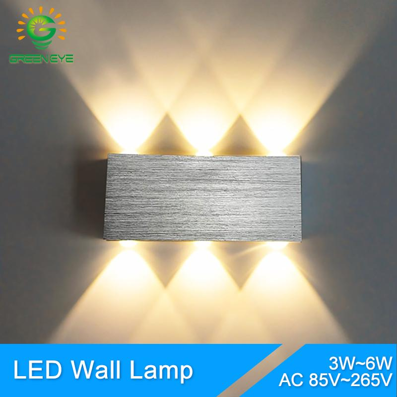 Wall Lamps Creative Led Wall Lamp Rgb Modern Light Fixture Luminous Lighting Sconce 3w Ac85-265v Indoor Wall Decoration Lightg Big Clearance Sale Lamps & Shades