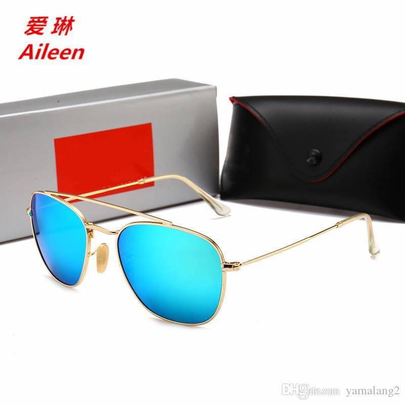 94dfe4f96b 2018 New Glass Sunglasses Metal Men And Women Colorful Film ...
