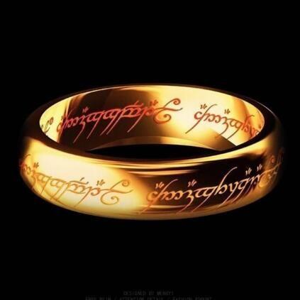 Grosshandel Hobbit Brief Ringe Schwarz Edelstahl Der Herr Die Ringe