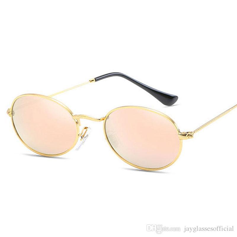 48fea3a0bf 2018 New Brand Designer Vintage Oval Sunglasses Women Men Retro Clear Lens  Eyewear Sun Glasses For Female UV400 Online Eyeglasses Discount Sunglasses  From ...