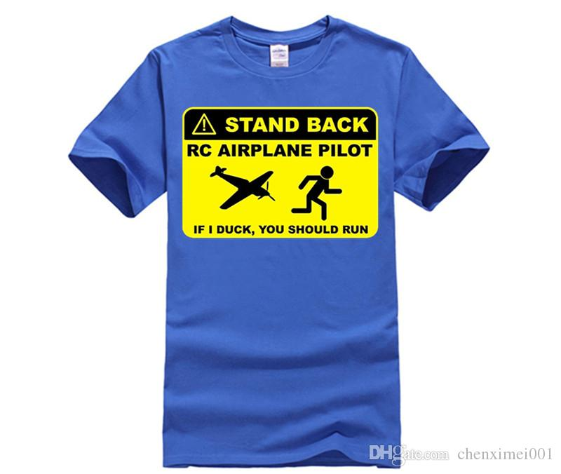 RC Airplane Pilot - Stand Back T Shirt Adult Unique Tee Shirt Custom Made T-Shirts Man Autumn Crew Neck Cheap Teenboy Tee