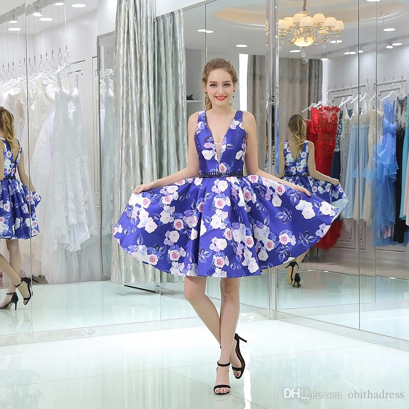 Beautiful Flower Cloth Short Cocktail Dress Locomotive Hook Light ...