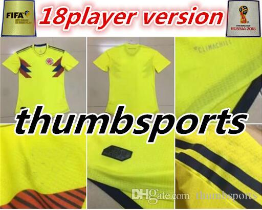 9767149e9f3 ... football shirt higuain argentina c32b0 7b25f; low cost player version colombia  soccer jerseys 2018 world cup jersey 10 james 9 falcao 11