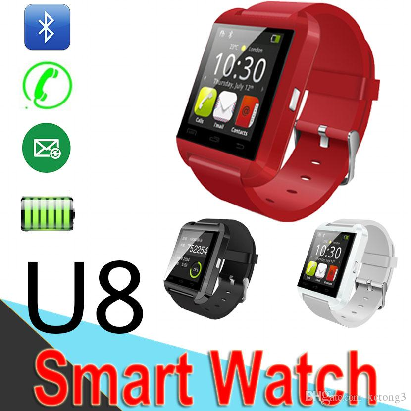 enfant où acheter design professionnel U8 Bluetooth Smart watch Wrist Watches Touch Screen For iPhone Samsung  Android Phone Sleeping Monitor Smart Watch 50 Packs Package