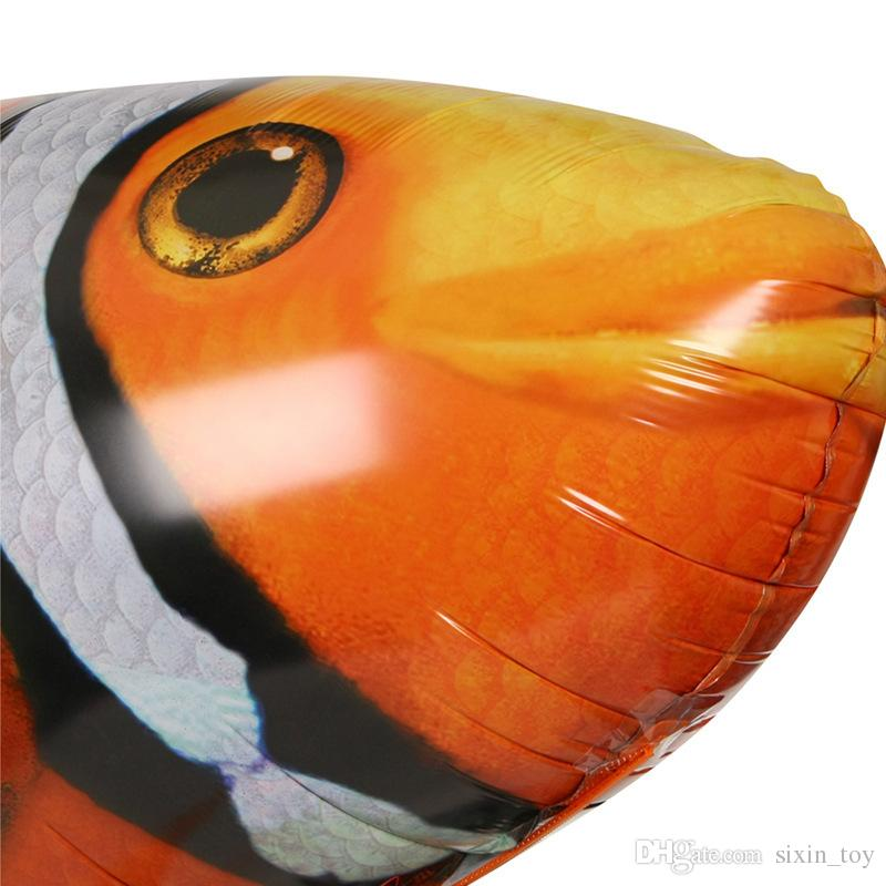 Wholesale IR RC Air Swimmer Shark Clownfish Flying Fish Assembly Clown Fish Remote Control Balloon Inflatable Toys for Kids