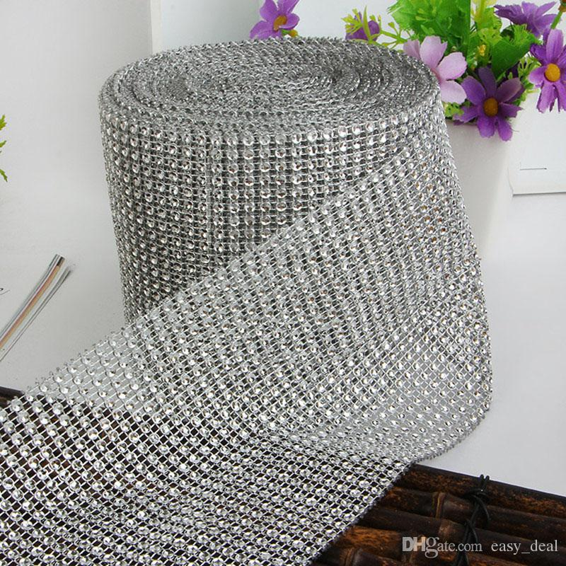 24 Rows Rhinestone Napkin Rings Wedding Banquet Napkin Holder Wrap Chair Sashes Bow Covers Hotel Party Decoration ZA6242